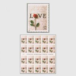 アメリカ 2001年LOVE バラ34c(印面大)