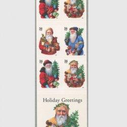 アメリカ 2001年クリスマスサンタクロース切手帳