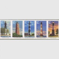 アメリカ2003年南東部の灯台5種連刷