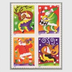 アメリカ 2003年クリスマス4種(ルレット11.8x11)