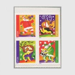 アメリカ 2003年クリスマス4種(ルレット10.5x10.8)