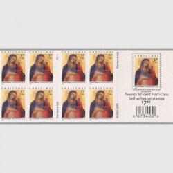 アメリカ 2004年クリスマス聖母子切手帳ペーン