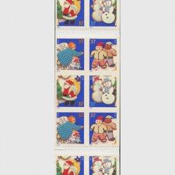 アメリカ 2005年クリマス クッキー(ルレット10.5x10.8)切手帳