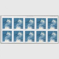 アメリカ 2004年ユキコサギ10枚ブロック