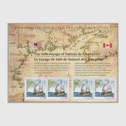 アメリカ 2006年シャンプランの探検400年国際切手展小型シート