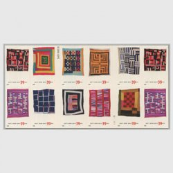 アメリカ 2006年ギーズベンドのキルト切手帳