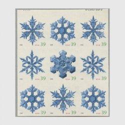 アメリカ 2006年クリスマス雪の結晶(ルレット8)9枚ブロック