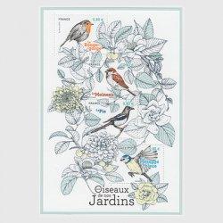 フランス 2018年自然シリーズ庭園の鳥小型シート