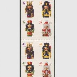 アメリカ 2008年クリスマス人形(印面小)切手帳