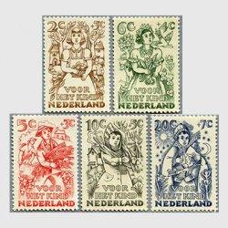 オランダ 1949年四季とクリスマス5種
