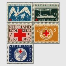 オランダ 1957年赤十字90年5種