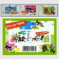 フランス 2009年切手の日ルーニー・テューンズ
