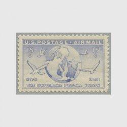 アメリカ 1949年航空切手 万国郵便連合75年15c