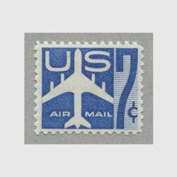 アメリカ 1958年航空切手 7c青