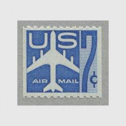 アメリカ 1958年航空切手 7c青コイル