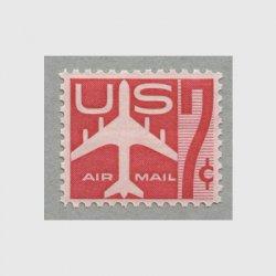 アメリカ 1960年航空切手 7c赤