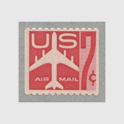 アメリカ 1960年航空切手 7c赤コイル