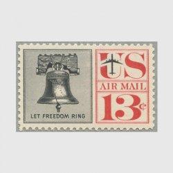 アメリカ 1961年航空切手 自由の鐘13c