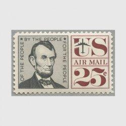 アメリカ 1960年航空切手 リンカーン25c