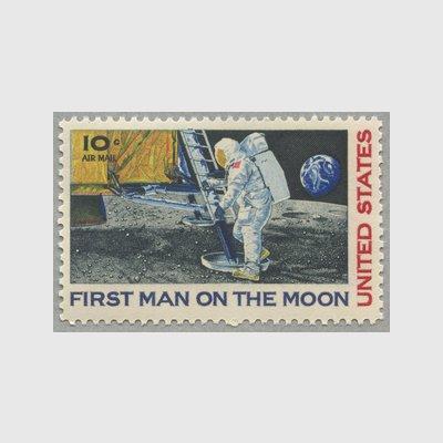 アメリカ 1969年航空切手 月面着...