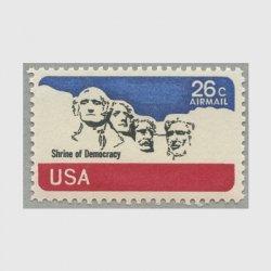 アメリカ 1974年航空切手 ラシュモア山26c