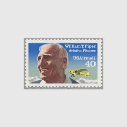 アメリカ 1991年航空切手 航空機開発者ウィリアム・パイパー
