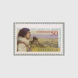アメリカ 1991年航空切手 アメリカ・シリーズ アジアからの最初の移住