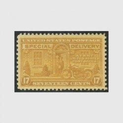 アメリカ 1944年特別配達切手 オートバイの配達17c