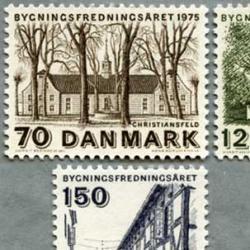 デンマーク 1975年建物の遺産の年3種