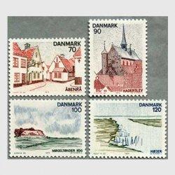 デンマーク 1975年風景4種