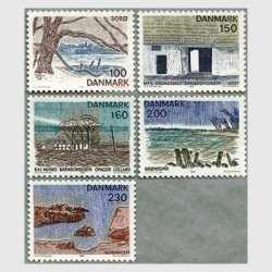 デンマーク 1981年Zealandの風景5種