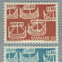 デンマーク 1969年5隻の古代船2種