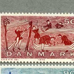 デンマーク 1970年バイキングの造船(50o)など4種