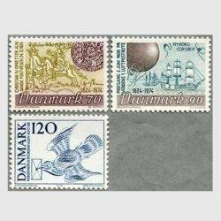 デンマーク 1974年伝書鳩など3種※少難品