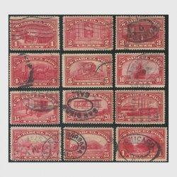 アメリカ 1912-13年小包切手12種※使用済