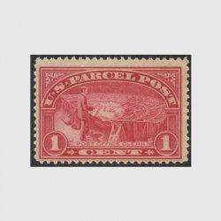 アメリカ 1912年小包切手1c