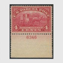 アメリカ 1912年小包切手4c未使用NH(stus_q004_1)