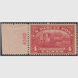アメリカ 1912年小包切手4c※ヒンジ(stus_q004_2)