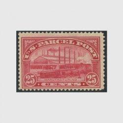 アメリカ 1912年小包切手 25c※ヒンジ(stus_q009_1)
