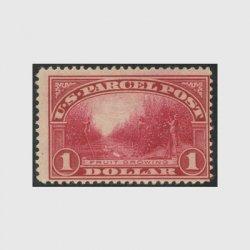アメリカ 1913年小包切手$1※ヒンジ(stus_q012_1)