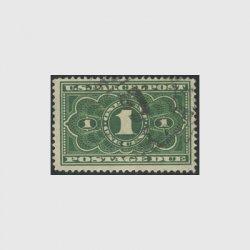 アメリカ 1912年小包不足料切手1c※使用済