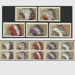 アメリカ 1990年インディアンの羽飾り