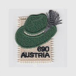 オーストリア 2018年刺繍切手Steirerhut