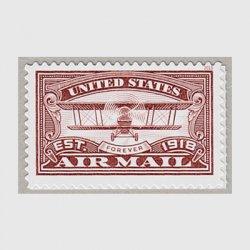 アメリカ 2018年航空郵便100年・赤