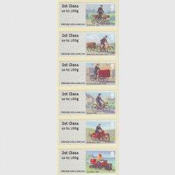 イギリス 2018年配達用自転車とバイクの歴史 ラベル切手