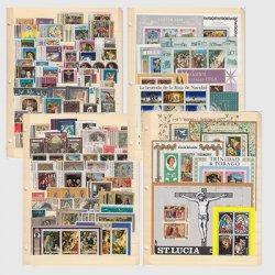 外国切手テーマ別コレクション・キリスト教320種