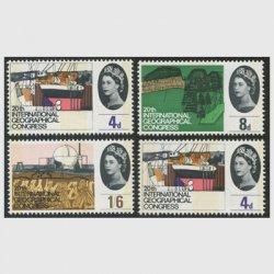 イギリス 1964年第20回国際地理学会議燐線入り4種