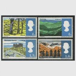 イギリス 1966年風景切手燐線入り4種