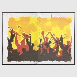 フランス 2002年ジャズミュージシャン小型シート記念ホルダー貼