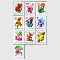ハンガリー 1965年植物園の花10種